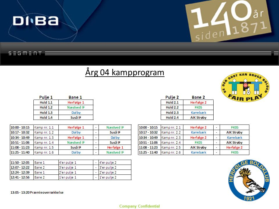 Company Confidential Årg 04 kampprogram