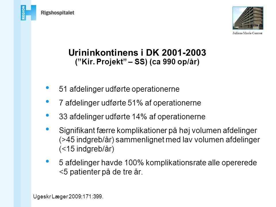 Urininkontinens i DK 2001-2003 ( Kir.