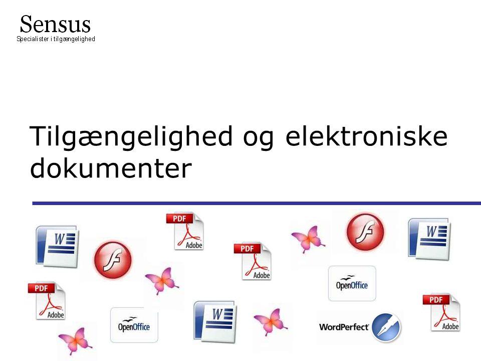 Tilgængelighed og elektroniske dokumenter Lbc/