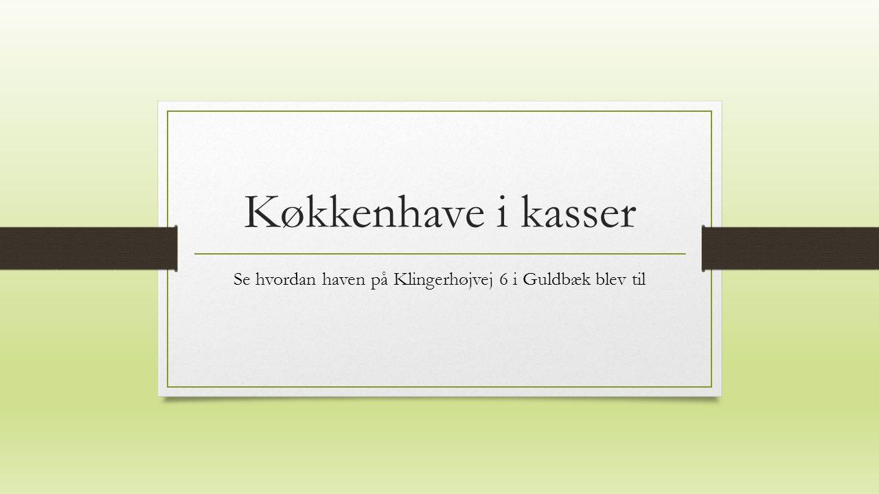 Køkkenhave i kasser Se hvordan haven på Klingerhøjvej 6 i Guldbæk blev til