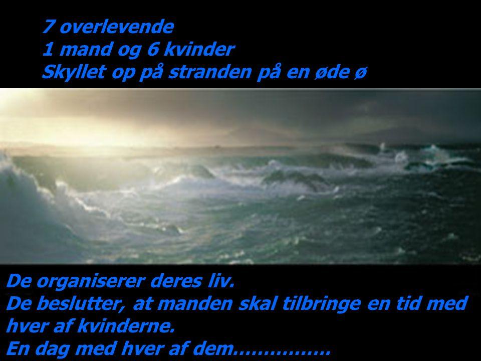 Pludselig en enorm storm... …og båden synker…..