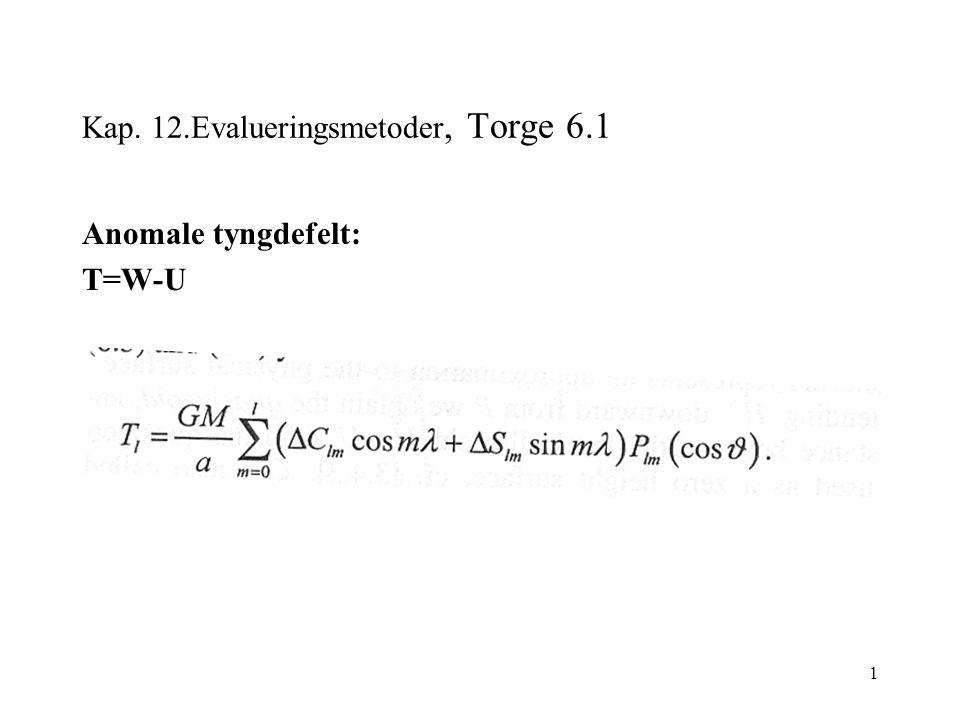 1 Kap. 12.Evalueringsmetoder, Torge 6.1 Anomale tyngdefelt: T=W-U