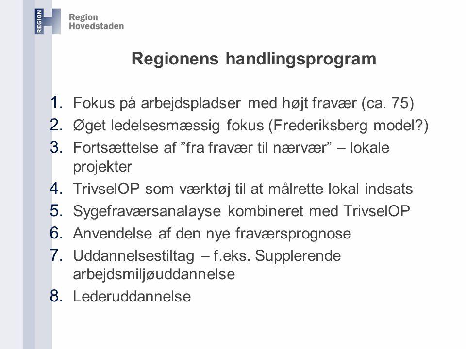 Regionens handlingsprogram 1. Fokus på arbejdspladser med højt fravær (ca.