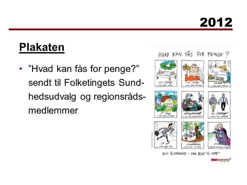 Hvad kan fås for penge sendt til Folketingets Sund- hedsudvalg og regionsråds- medlemmer 2012 Plakaten