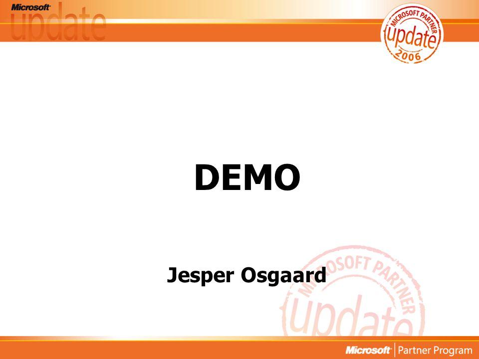 Microsoft Confidential DEMO Jesper Osgaard