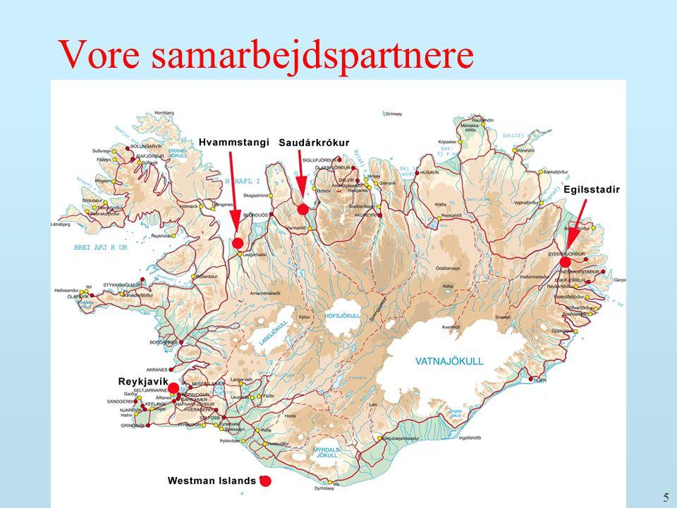 16. sept. 2008 E. Gudmundsson: Det nye folktællingsprojekt i Island 5 Vore samarbejdspartnere