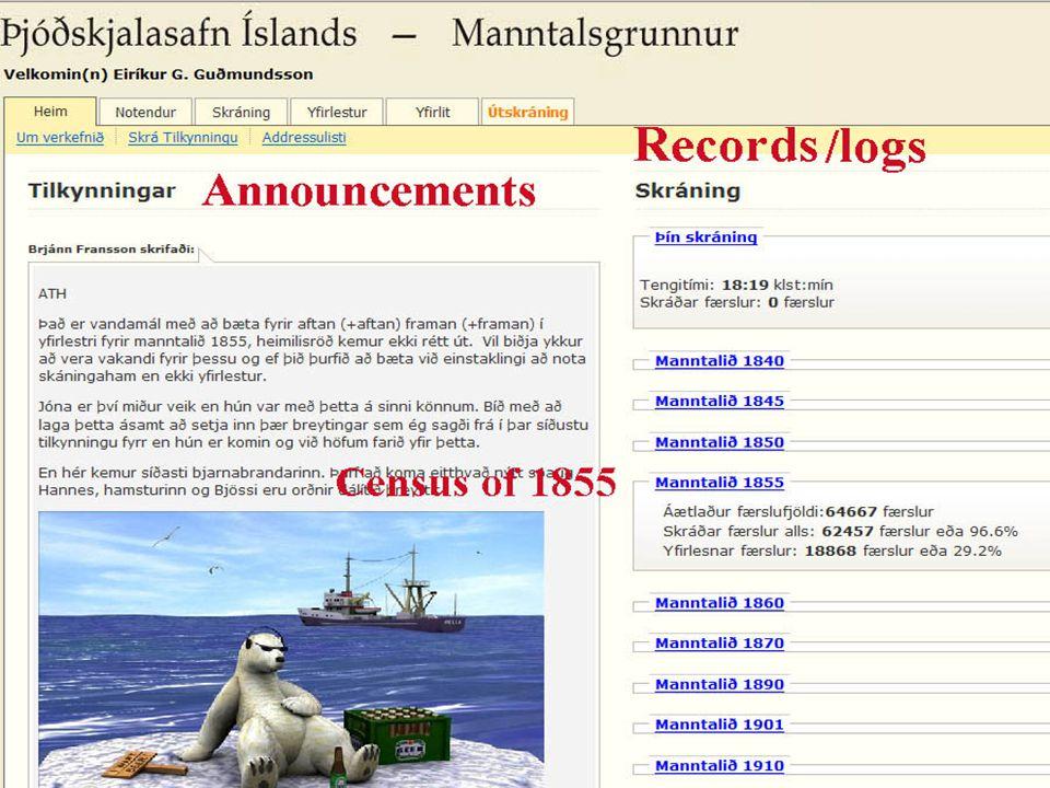 16. sept. 2008 E. Gudmundsson: Det nye folktællingsprojekt i Island 8