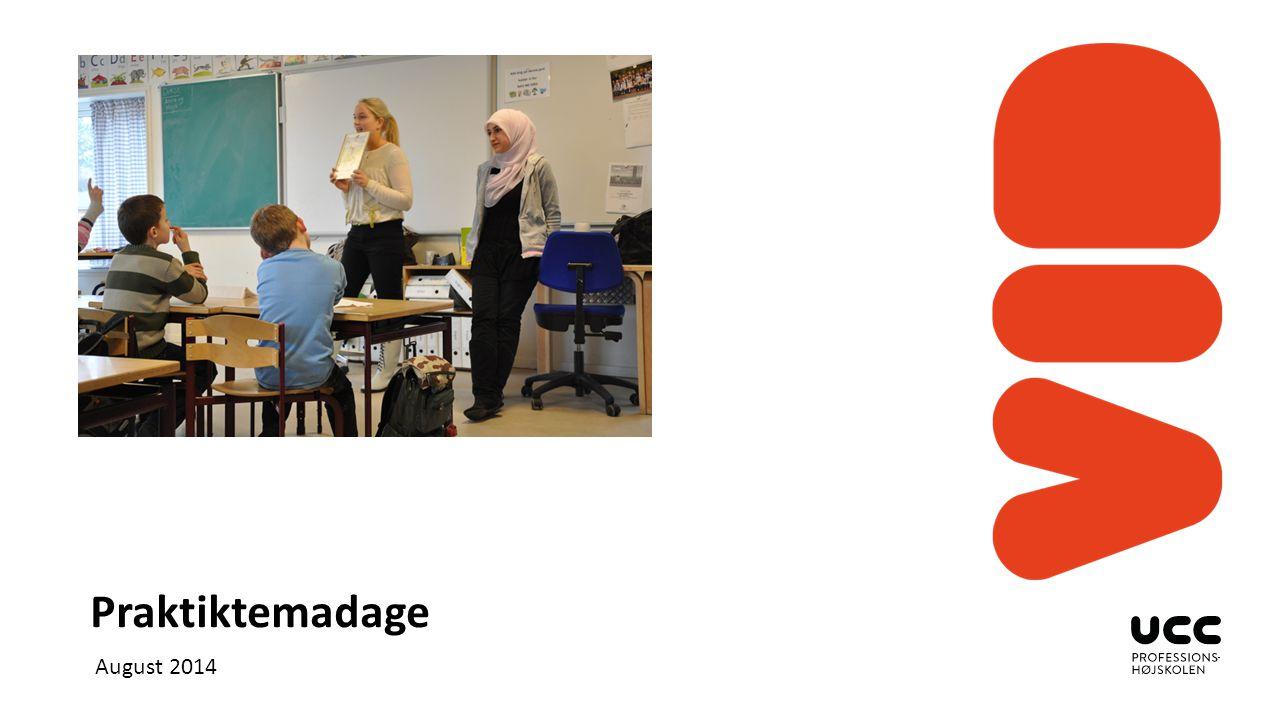 Indsæt billeder Klik på ikonet og indsæt et billede Billedbanken findes her: http://foto.ucc.dk/lightbox/2981/1261053 0405281f60c93adc/ Vælg layout 1.