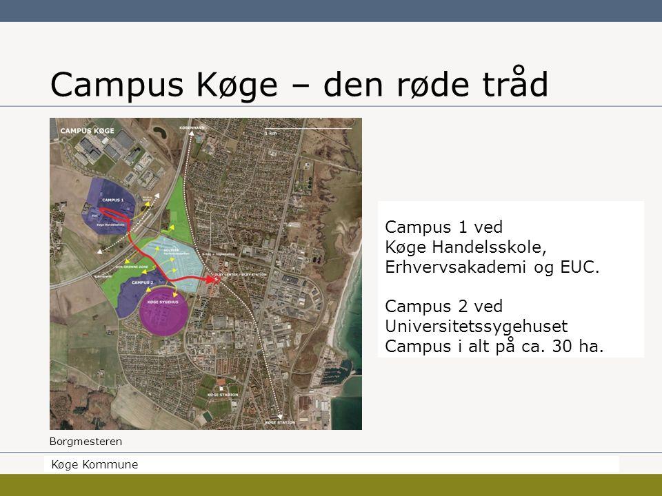 Borgmesteren Køge Kommune Campus Køge – den røde tråd Køge Kommune Campus 1 ved Køge Handelsskole, Erhvervsakademi og EUC.
