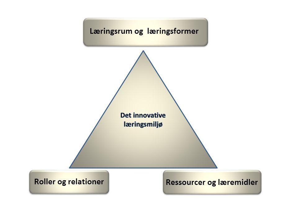 Ressourcer og læremidler Roller og relationer Læringsrum og læringsformer