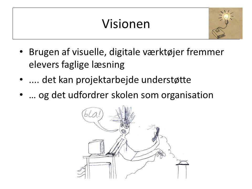 Visionen Brugen af visuelle, digitale værktøjer fremmer elevers faglige læsning....