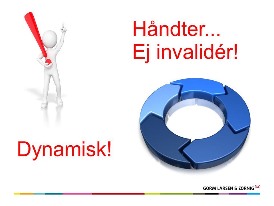 Dynamisk! Håndter... Ej invalidér!