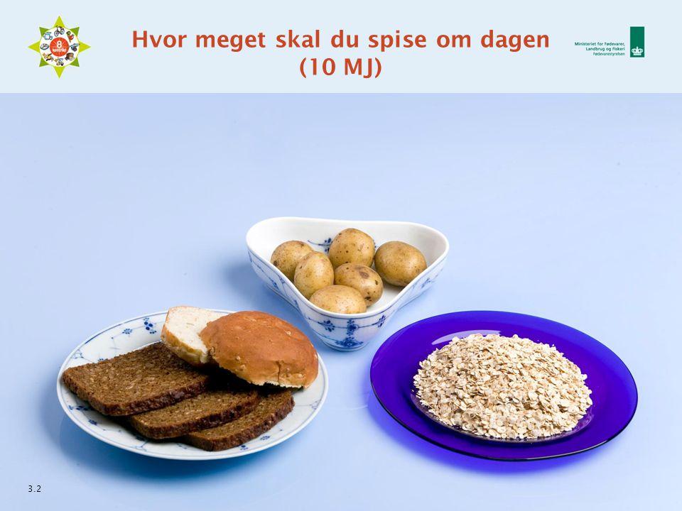 Hvor meget skal du spise om dagen (10 MJ) 3.2