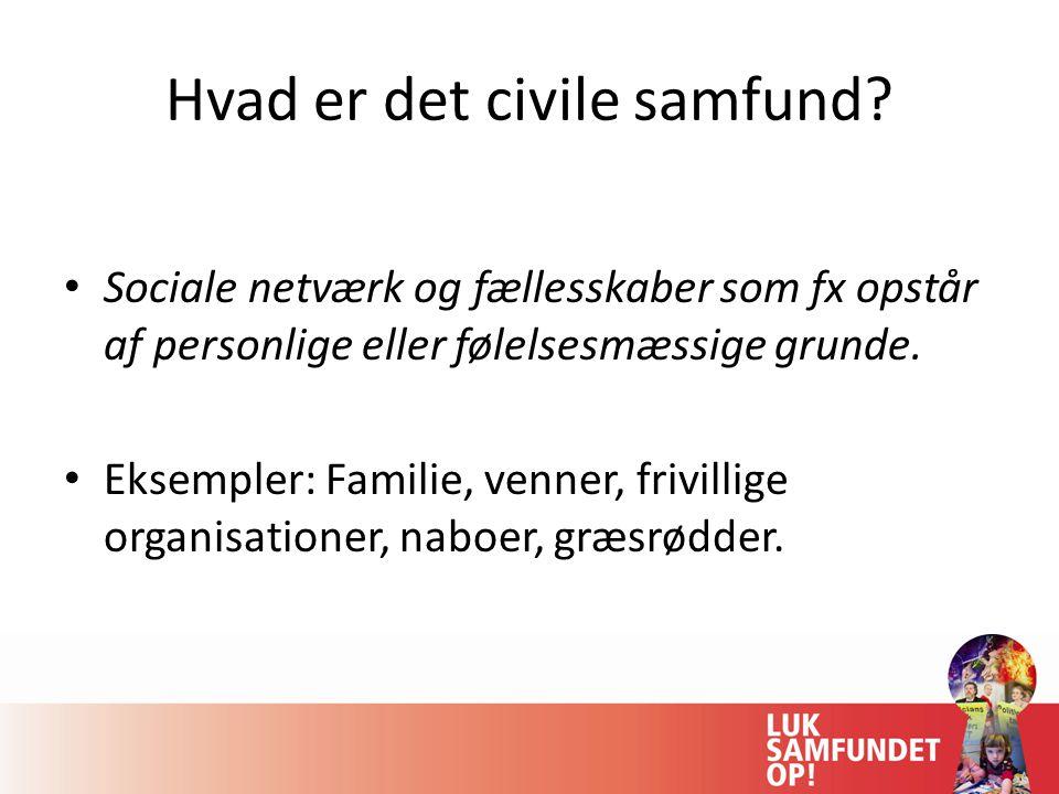 Hvad er det civile samfund.