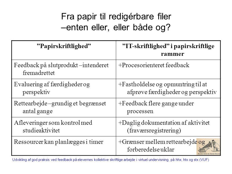 Fra papir til redigérbare filer –enten eller, eller både og.