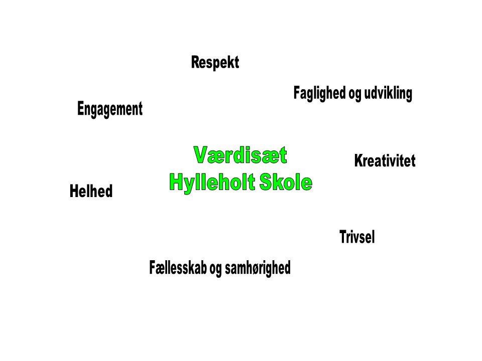 Værdier for Hylleholt Skole formuleret af skolebestyrelsen d.9.nov.2007.