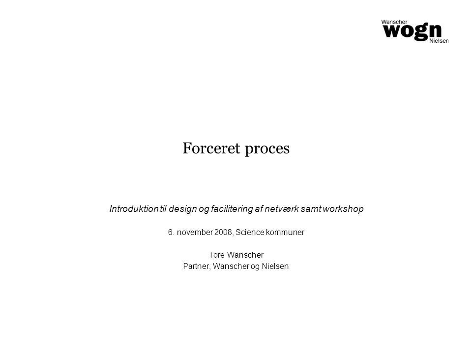 Forceret proces Introduktion til design og facilitering af netværk samt workshop 6.
