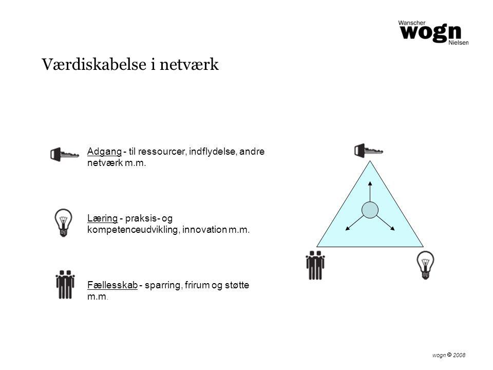Adgang - til ressourcer, indflydelse, andre netværk m.m.