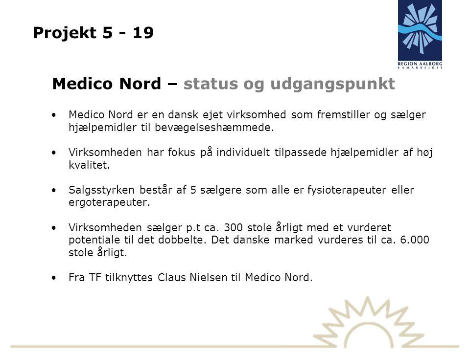 Projekt 5 - 19 Medico Nord – status og udgangspunkt Medico Nord er en dansk ejet virksomhed som fremstiller og sælger hjælpemidler til bevægelseshæmmede.