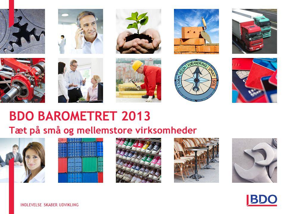 INDLEVELSE SKABER UDVIKLING BDO BAROMETRET 2013 Tæt på små og mellemstore virksomheder