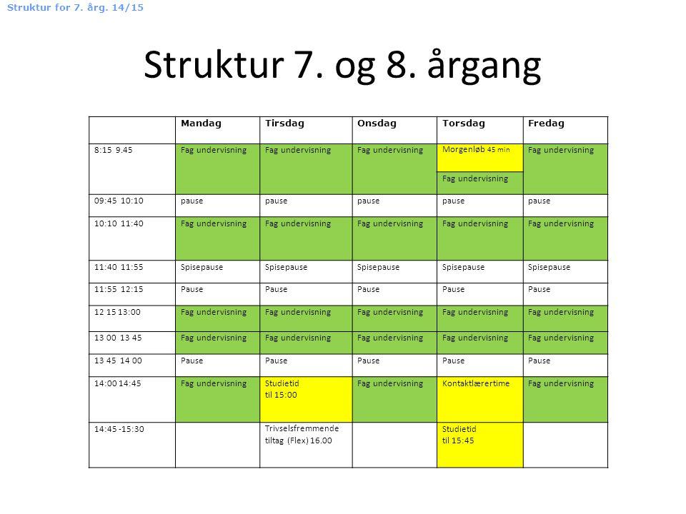 Struktur 7. og 8.