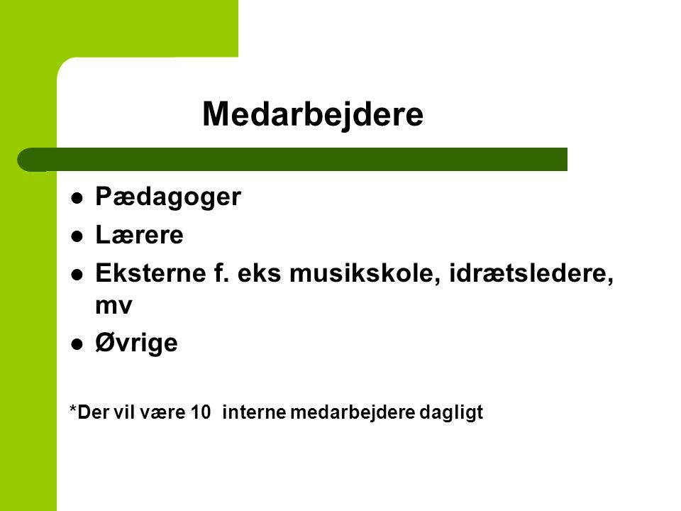Medarbejdere Pædagoger Lærere Eksterne f.