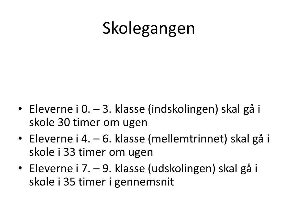 Skolegangen Eleverne i 0. – 3.