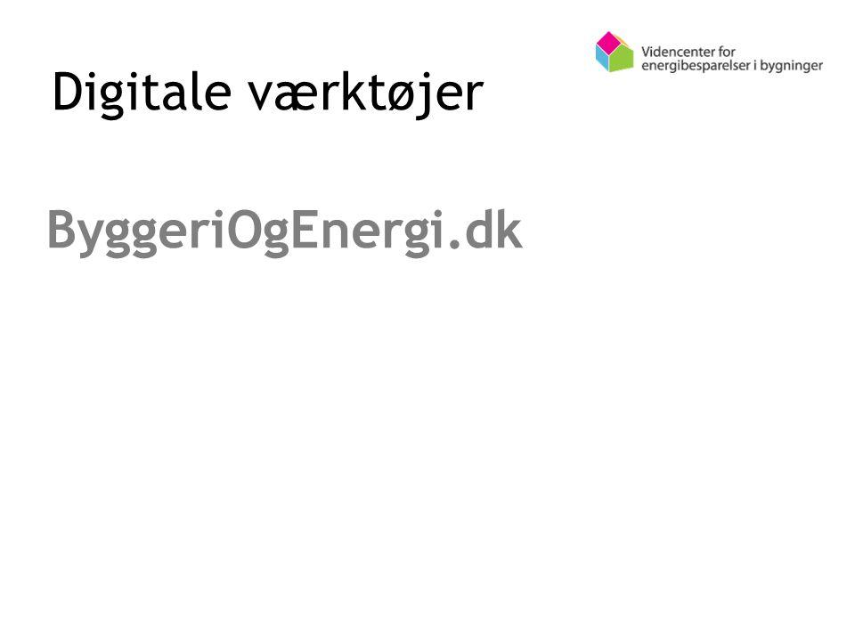 Digitale værktøjer ByggeriOgEnergi.dk