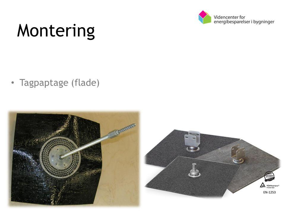 Montering Tagpaptage (flade)