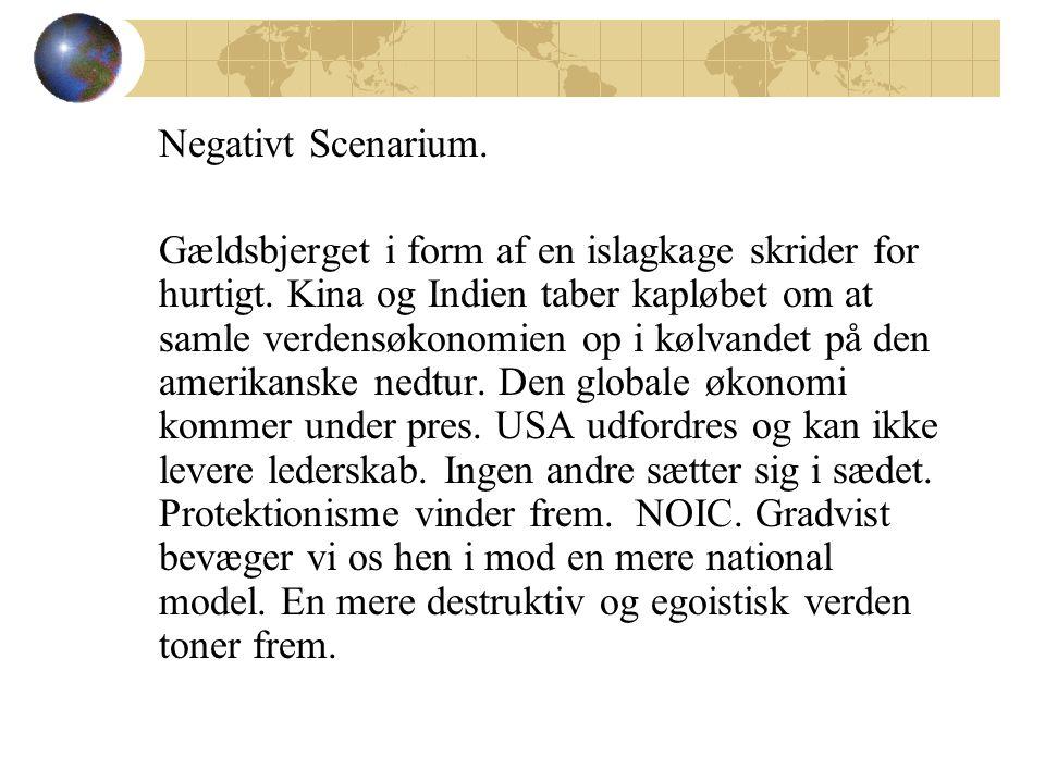 Negativt Scenarium. Gældsbjerget i form af en islagkage skrider for hurtigt.