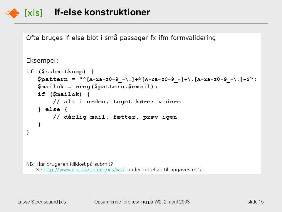 Lasse Steensgaard [xls]Opsamlende forelæsning på W2, 2.