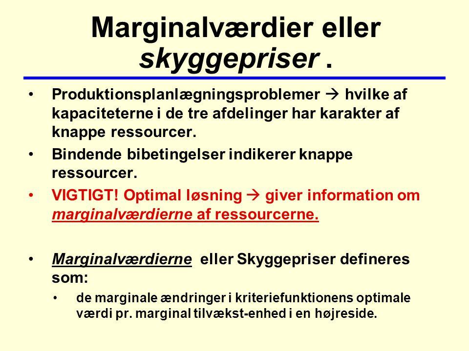 Marginalværdier eller skyggepriser.