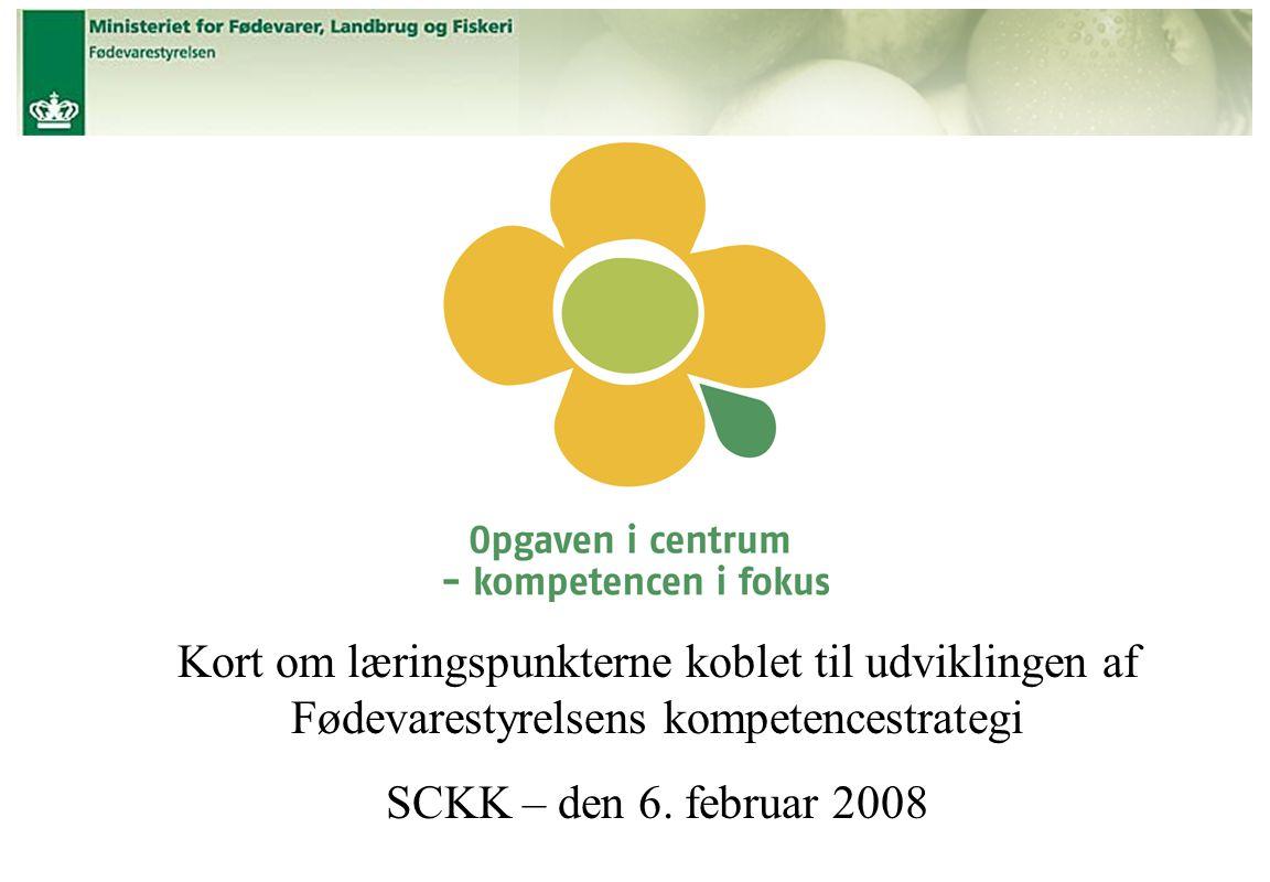 Titel Kort om læringspunkterne koblet til udviklingen af Fødevarestyrelsens kompetencestrategi SCKK – den 6.