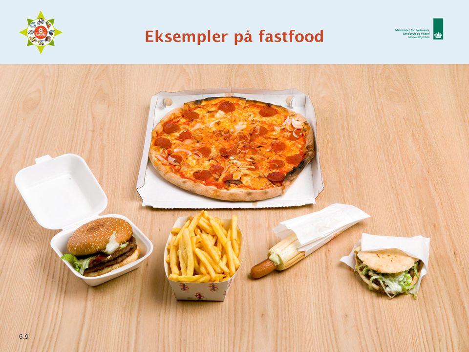 Eksempler på fastfood 6.9