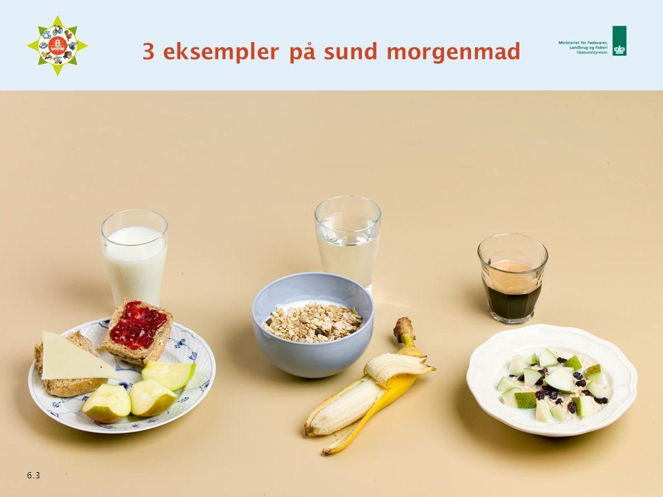 3 eksempler på sund morgenmad 6.3