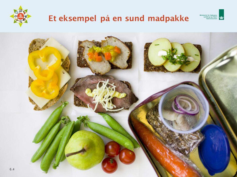 Et eksempel på en sund madpakke 6.4