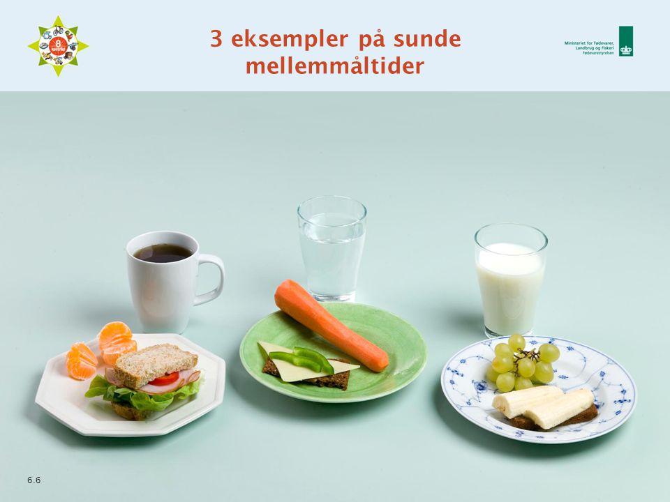 3 eksempler på sunde mellemmåltider 6.6