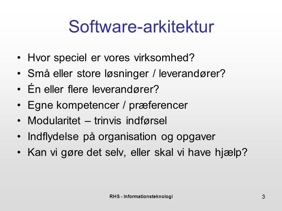 RHS - Informationsteknologi 4 Hvor specielle er vi.