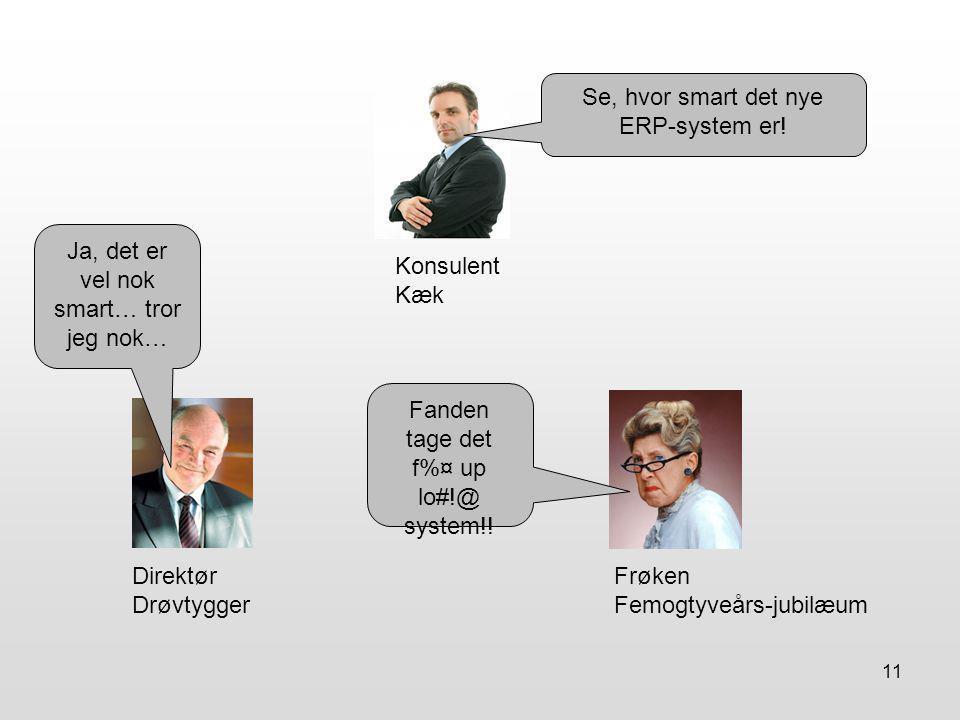 11 Konsulent Kæk Direktør Drøvtygger Frøken Femogtyveårs-jubilæum Se, hvor smart det nye ERP-system er.