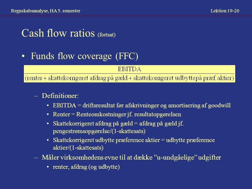 Regnskabsanalyse, HA 5.