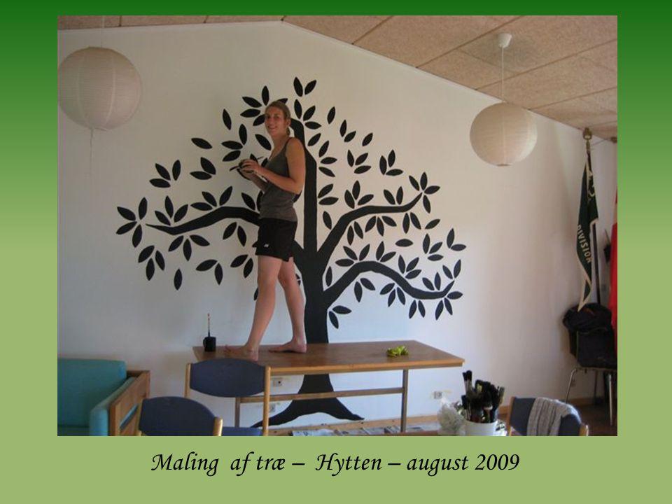 Maling af træ – Hytten – august 2009