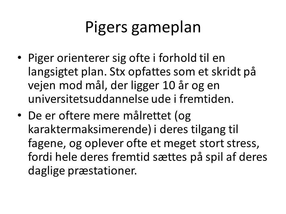 Pigers gameplan Piger orienterer sig ofte i forhold til en langsigtet plan.