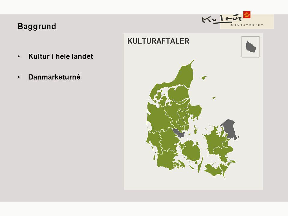 Baggrund Kultur i hele landet Danmarksturné