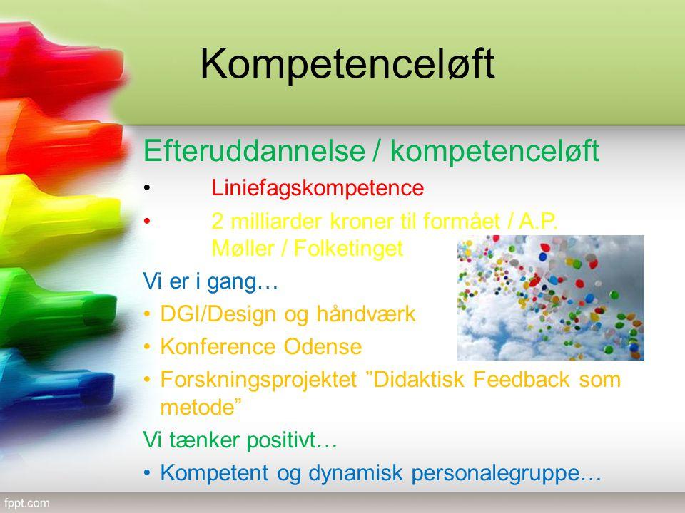 Kompetenceløft Efteruddannelse / kompetenceløft Liniefagskompetence 2 milliarder kroner til formået / A.P.