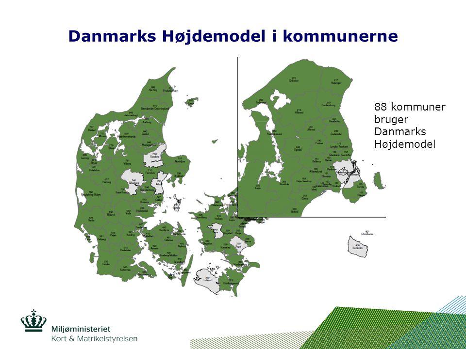Danmarks Højdemodel i kommunerne 88 kommuner bruger Danmarks Højdemodel