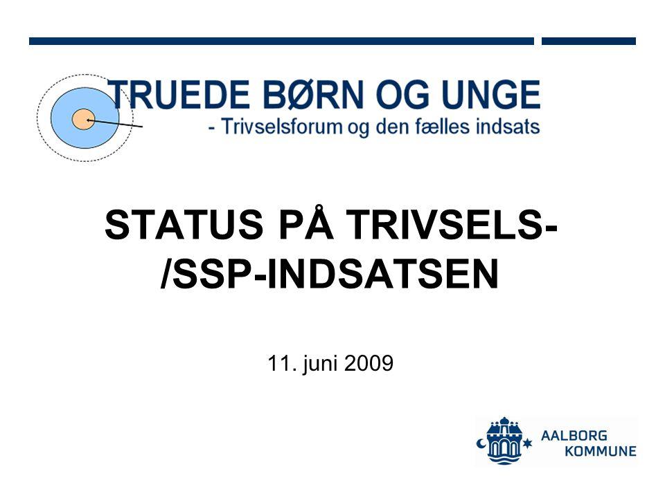 STATUS PÅ TRIVSELS- /SSP-INDSATSEN 11. juni 2009