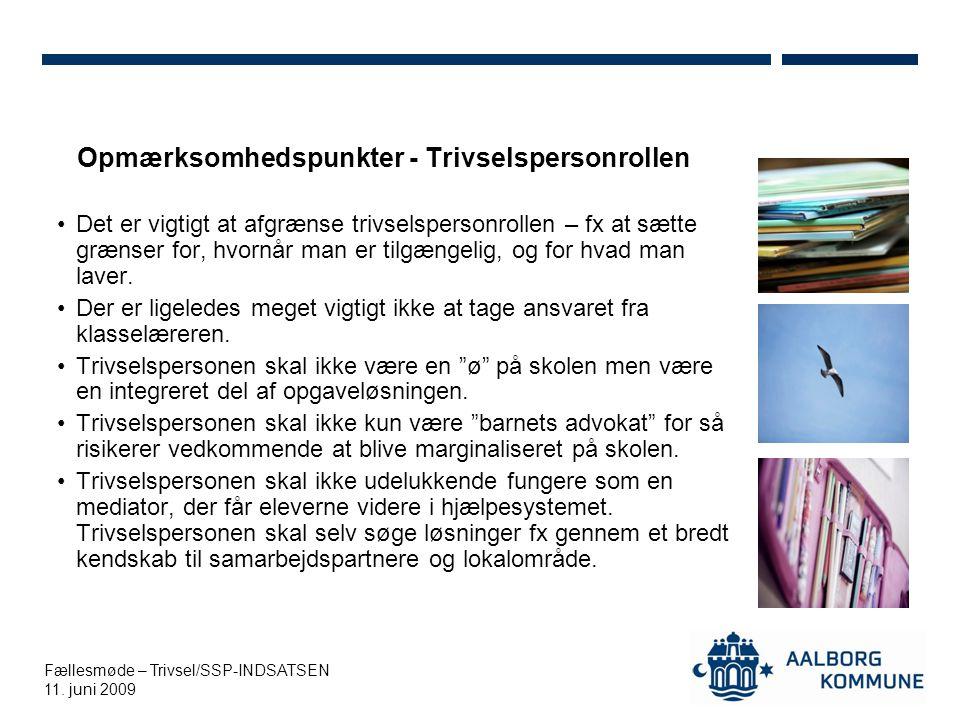 Fællesmøde – Trivsel/SSP-INDSATSEN 11.
