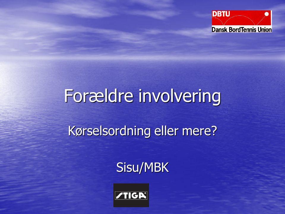 Forældre involvering Kørselsordning eller mere Sisu/MBK