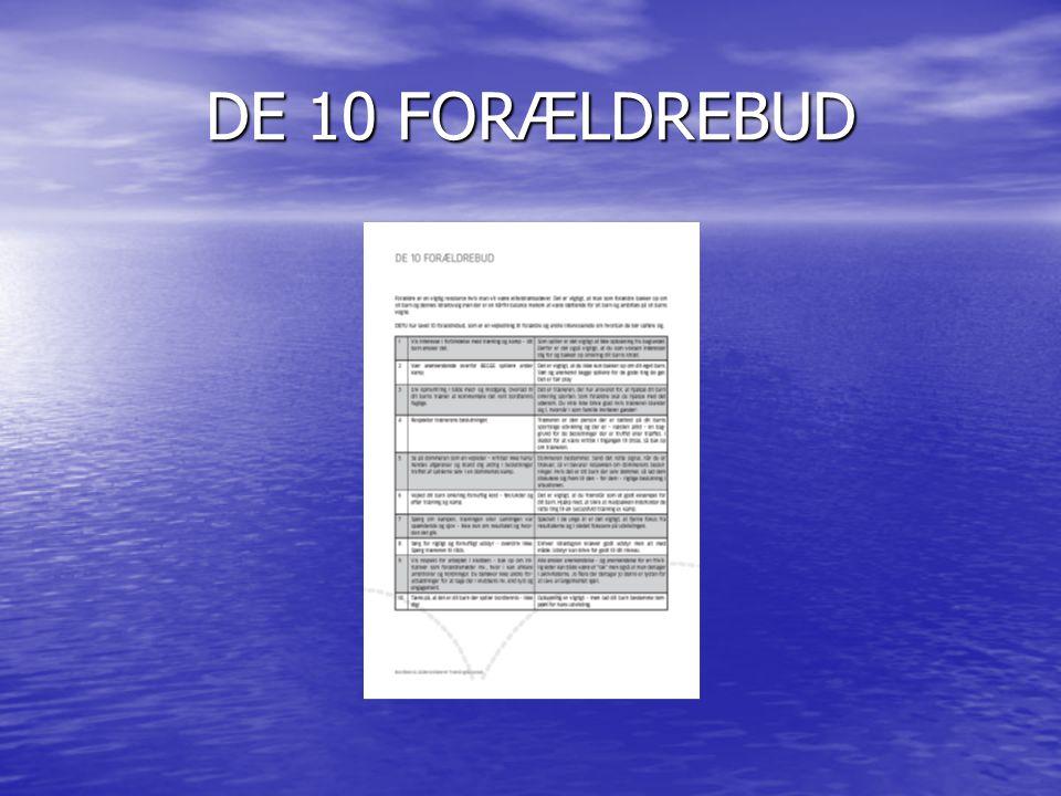 DE 10 FORÆLDREBUD