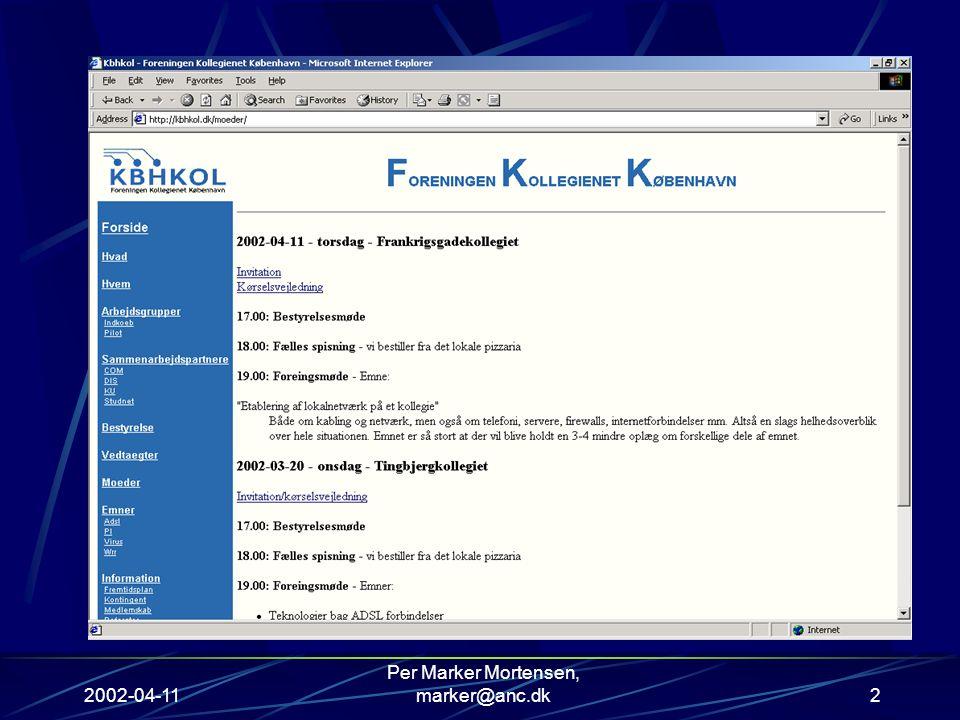 2002-04-11 Per Marker Mortensen, marker@anc.dk2